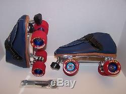 New Riedell 911 Snyder Advantage Leather Roller Skates Mens Size 8