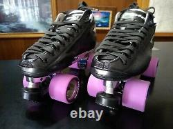 New Riedell Solaris Leather Boots Labeda Pro-line Roller Skates Mens 9.5