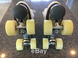 Precision Roller Skates Size 5 Adult Riedell, 62mm Roller Bones, Sure-Grip