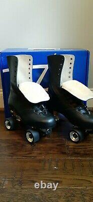 Premiun Riedell Hand Cut Leather OG 172 Roller Skates Neo Reactor Size Men's 7