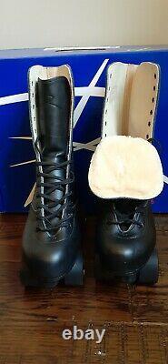 Premiun Riedell Hand Cut Leather OG 172 Roller Skates Neo Reactor Size Men's 7.5