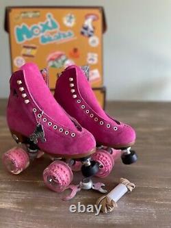 RARE Mens Size 5 Moxi Lolly Roller Skates in DISCONTINUED FUCHSIA