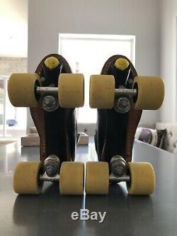 RARE Riedell 395 REDLINE Size 9 Speed Roller Skates