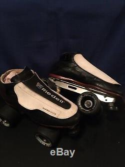 RIEDELL 395 LABEDA PRO-LINE LEATHER ROLLER SKATES Custom Derby Jam Skate