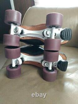 RIEDELL 595 black Size 8 Men roller skates/Sure Grip Magnum 4/ Hyper Strada NICE