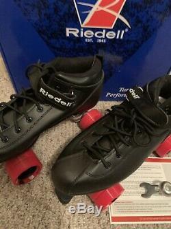 RIEDELL Black Roller Derby DART Skates Sz 12 Worn Once