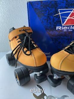 RIEDELL DART Light Orange QUAD ROLLER SKATES Womens Size 6
