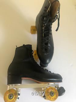 RIEDELL Professional Roller Skates byJesse Halpern. MADE IN THE USA. SIZE 10