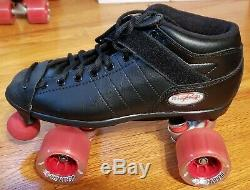 RIEDELL R3 ROLLER SKATES Wmns Sz 8 withTriple Eight Helmut, Knee, Elbow, Wrist Pads