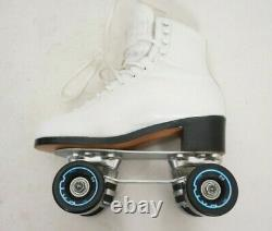 RIEDELL Red Wing 297 White Snyder 7mm Plates USA ROLLER SKATES Size 5