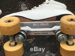 RIEDELL Roller Skates Vintage Sure Grip SuperX 5L/5R Size 6 220w Satin Roll 56