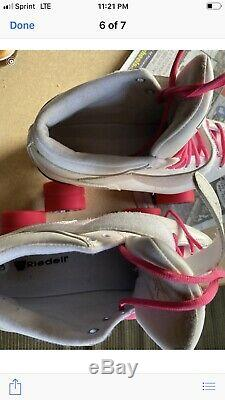 RIEDELL Rollerblade CAYMAN Skates White and Pink Womens Size 10