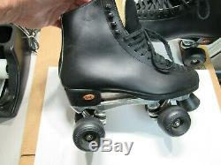 RIEDELL SURE-GRIP Super X 6L Mens Size 9 Black ROLLER SKATES EXCELLENT