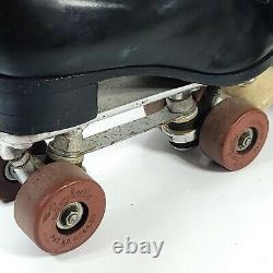 RIEDELL USA Black Leather Roller Skates Douglass Snyder 297 Mens 8.5 Women 9.5