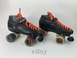RIEDELL Vintage USA Rs-1000 Speed Roller Skates Mad Dog Wheels 62M Size 8