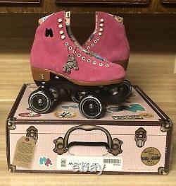 Rare Moxi Lolly Roller Skates Fushia Size 6 (fits womens 7 & 7.5)