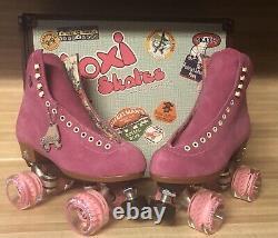 Rare Moxi Lolly Roller Skates Fushia Size 7 (fits womens 8 & 8.5)