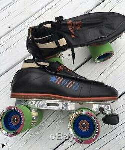 Rare Riedell Redlines Roller Skates Mens 6 Ladies 8