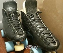 Reidell 295 Roller Skates- Size 8.5 CUSTOM VINTAGE Power-Trac Plates