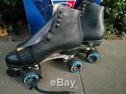 Reidell Roller Skates Figure F 121 Black Leather Red Wing Kryptonics Size 11 M