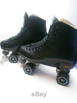 Riedell 111 Black Roller Skates Size 9 Mens Riva Wheels H