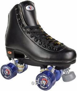 Riedell 111 Fame Men Size 4-13 Indoor Rink Roller Skates Clear Purple Wheels