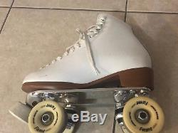Riedell 111 White Artistic Angel Roller Skates Woman's 7