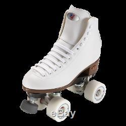 Riedell 111 women's White Angel Roller Skate package 96a Rink setup