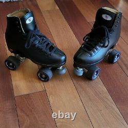 Riedell 111BR Black Boost Roller Skates Mens Size 7 Purple Sonar Zen Wheels 85a