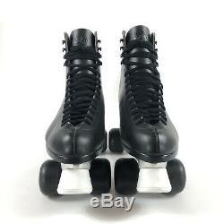 Riedell 117 Sure Grip Super X 8L 8R Roller Skates Black Size 11 M EUC