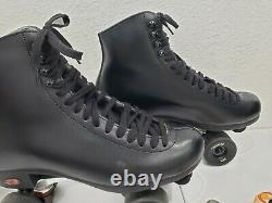 Riedell 120 Leather Boot Roller Skates Mens Size 10 with REACTOR NEO BASE PLATES