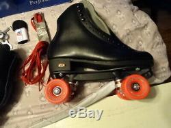 Riedell 120 Uptown Rhythm Men's 9.5 D Black Roller Skate Set Skates Brand New