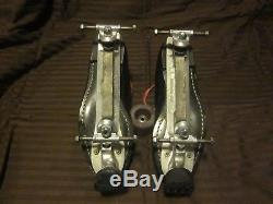Riedell 122 Leather Speed Skates 13m Sheepskin Tongue Sure-grip Invader Plates