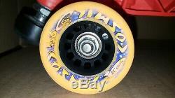 Riedell 122 Men's Black Speed Roller Skates Sunlite Plates Cosmic Wheels