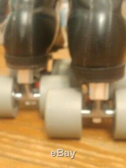 Riedell 125 RS 1000 Speed/jam Roller Skates Reactor Pro plates Size 8men/9 women