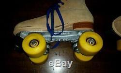 Riedell 130L Tan Leather Roller Skates Kryptos Wheels Sure-Grip Trucks Ladies 6
