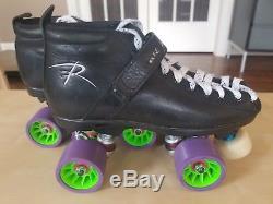 Riedell 165 Roller Skates Speed Derby size 6 Men's (8 Women's) Atom Raptor Plate
