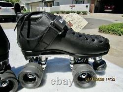 Riedell 165 Speed Roller Skates PowerDyne Triton Plates Sz 6 Excellent Condition