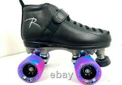 Riedell 165 Vixen Skate With Sonar Swirl wheels Derby Roller FREE POST