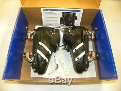 Riedell 265 Size 4 w PowerDyne Fuse Nylon Plates Speed Derby Skates Black NEW