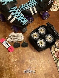 Riedell 265 Wicked Leather Powerdyne Quad Skates Sure-grip Wheels M 6.5 / W 8.5