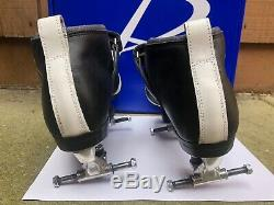Riedell 265 skates withAvanti plates, Boots Mint-size 10.5, new toe stops included