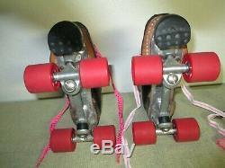 Riedell 295 Speed SkatesMen Size-5Women Size-6Cyclone PlatesRed Devil Wheels