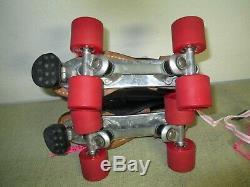 Riedell 295 Speed SkatesWomen Size-6Men Size-5Cyclone PlatesRed Devil Wheels