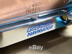 Riedell 395 Black-White Roll-Line Navigator Frames Speed Jam Skates Size 11.5