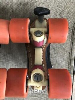 Riedell 395 Redline Size 3 Speed Roller Skates Laser Plates, Interceptor & Lips