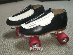 Riedell 395 Roller Skates Mens 9, Sure Grip Power Plus Wheels, Laser Plates