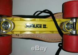 Riedell 395 Size 12 Speed Roller Skates w Wicked Lips Wheels Sunlite II Plates