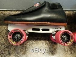 Riedell 395 Speed Skates (Size 11) Laser plates Bone Swiss 627 bearings