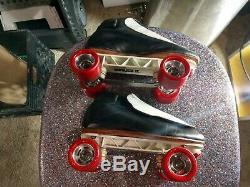 Riedell 395 skates black size 9.0 mens sure grip powerplus wheels
